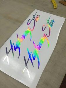 """Image of HighwayStar Cursive banner 22"""""""