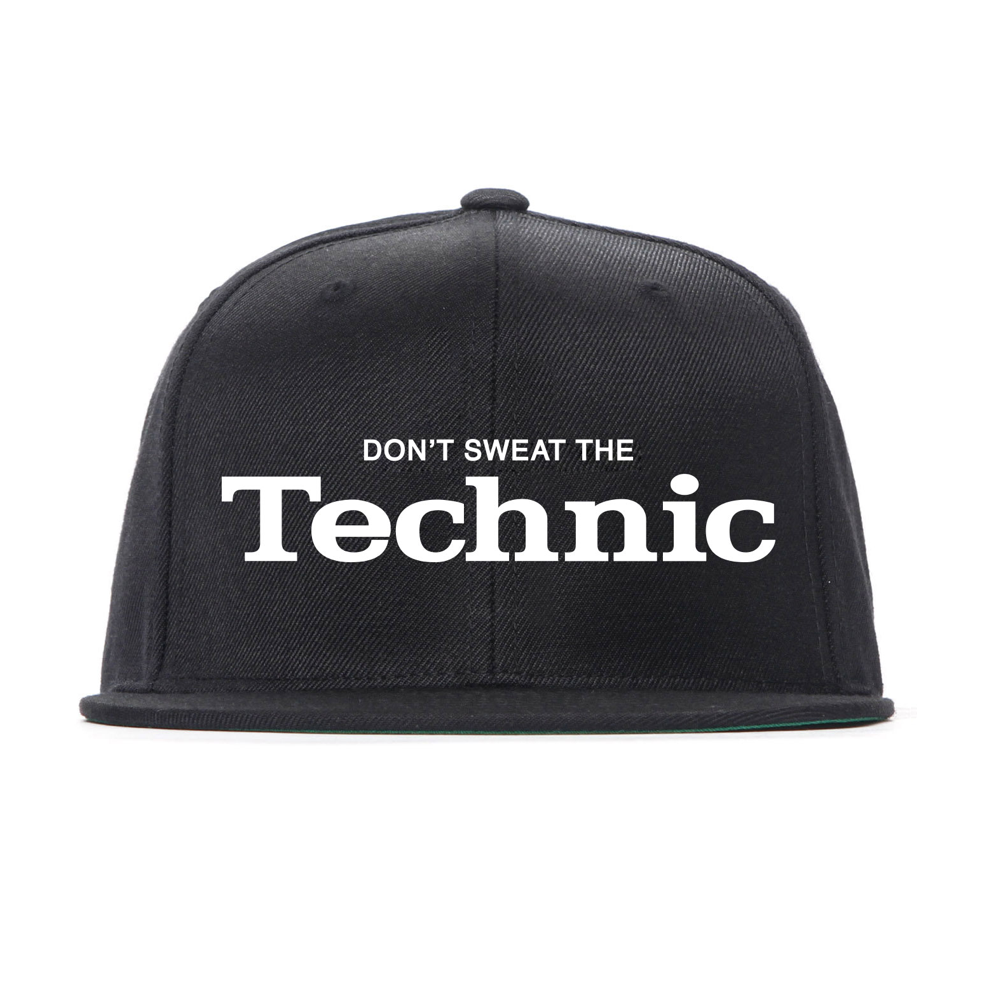 Image of Don't Sweat The Technic Snapback (Black/White)