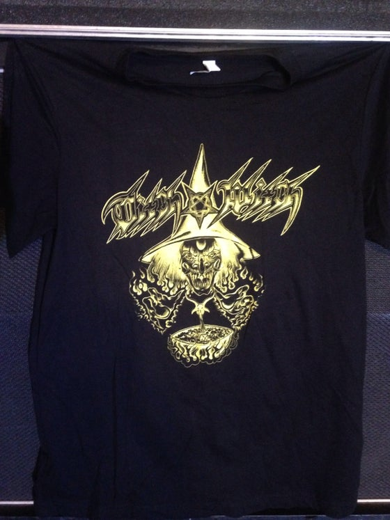 "Image of Ditch Witch ""Cauldron"" T-Shirt in Dayglo Yellow"