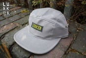 Image of Lurker Co 5 Panel Snapback Light Grey