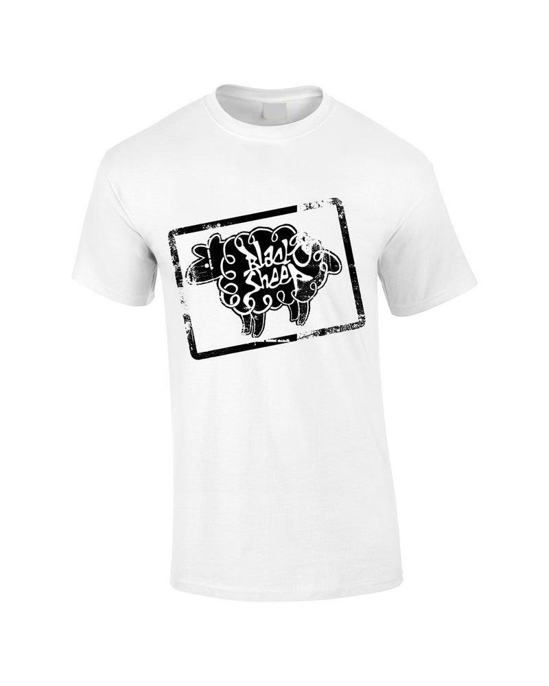Stamp t shirts black sheep clothing for Stamp t shirt printing