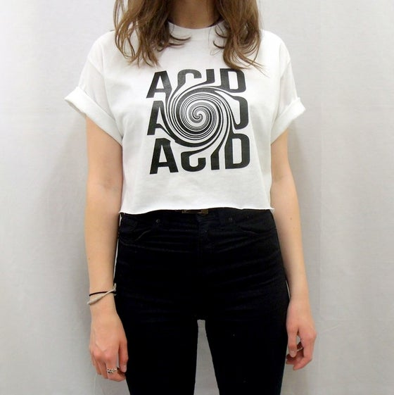 Image of White Acid illusion crop top
