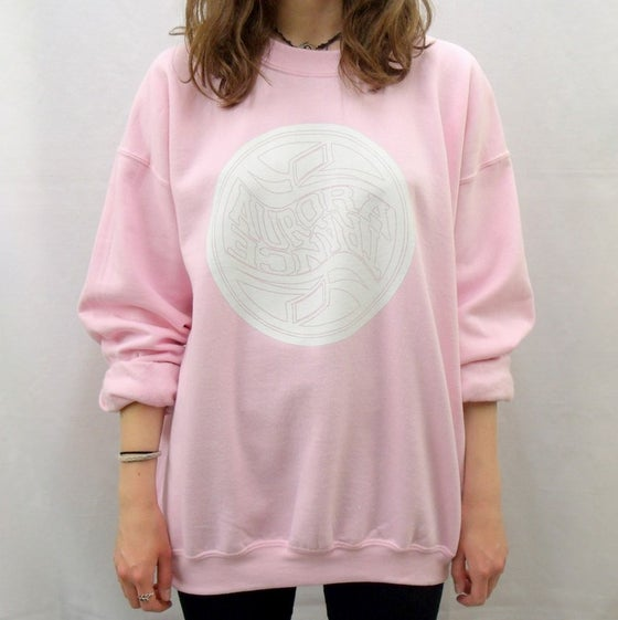 Image of Baby pink twisted logo sweatshirt
