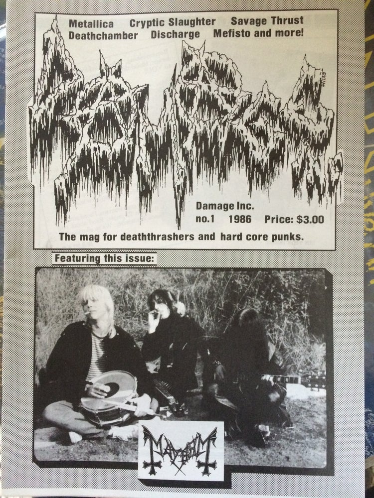 Image of Damage Inc. Fanzine No.1 from 1986 by Maniac (Mint condition!)
