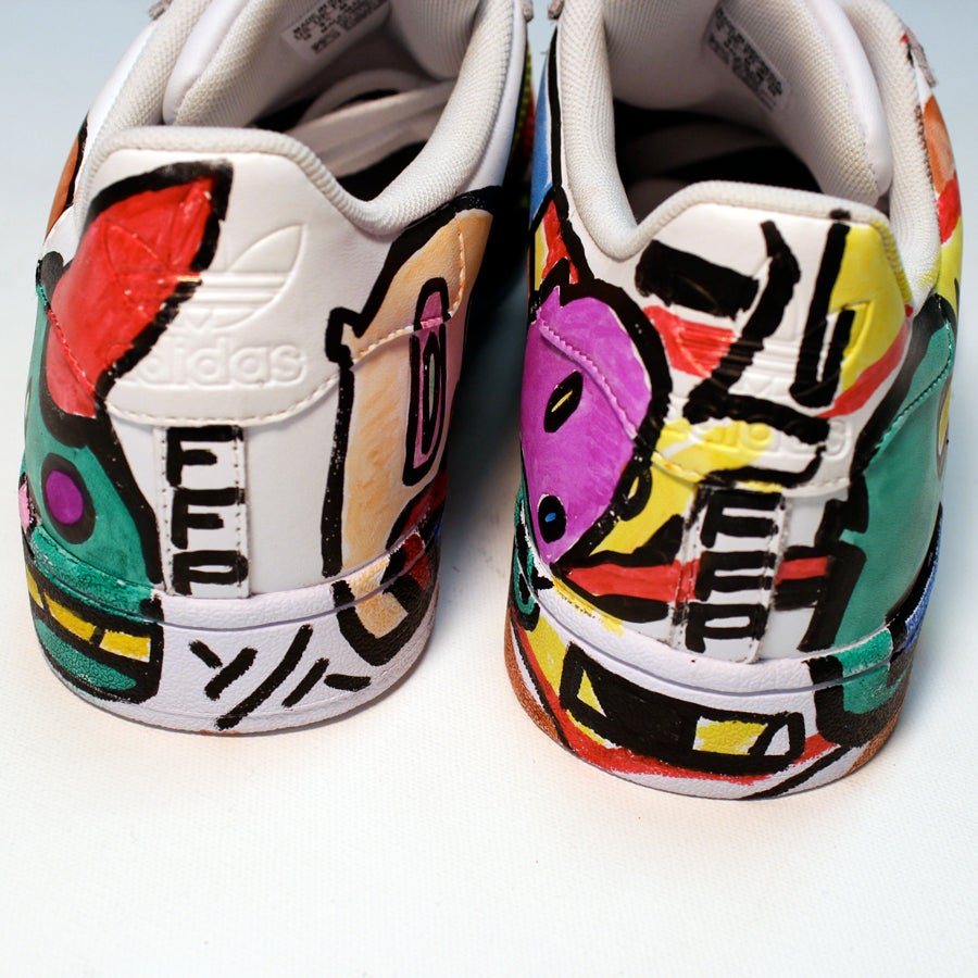Image of FFP Hand Draw Color Adidas Shoes
