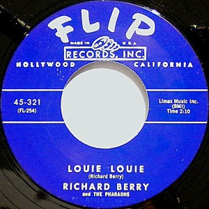 """Image of 7"""" Richard Berry : Louie Louie / Have Love Will Travel. REPRO."""