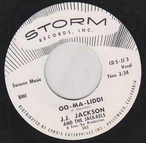 """Image of 7"""" JJ. Jackson & The Jackaels : Oo-Ma-Liddi"""