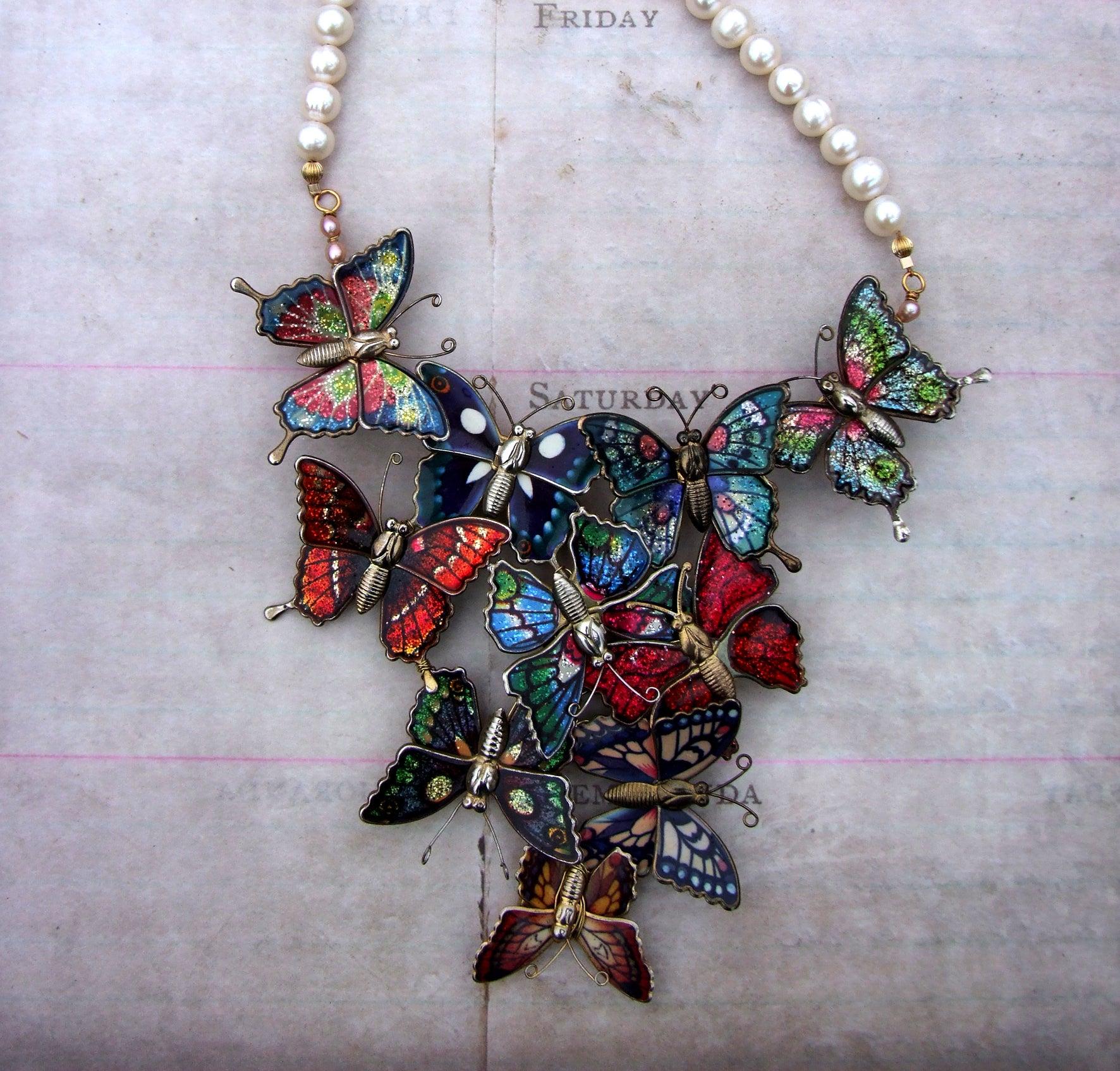 Vintage Butterfly Necklace 21