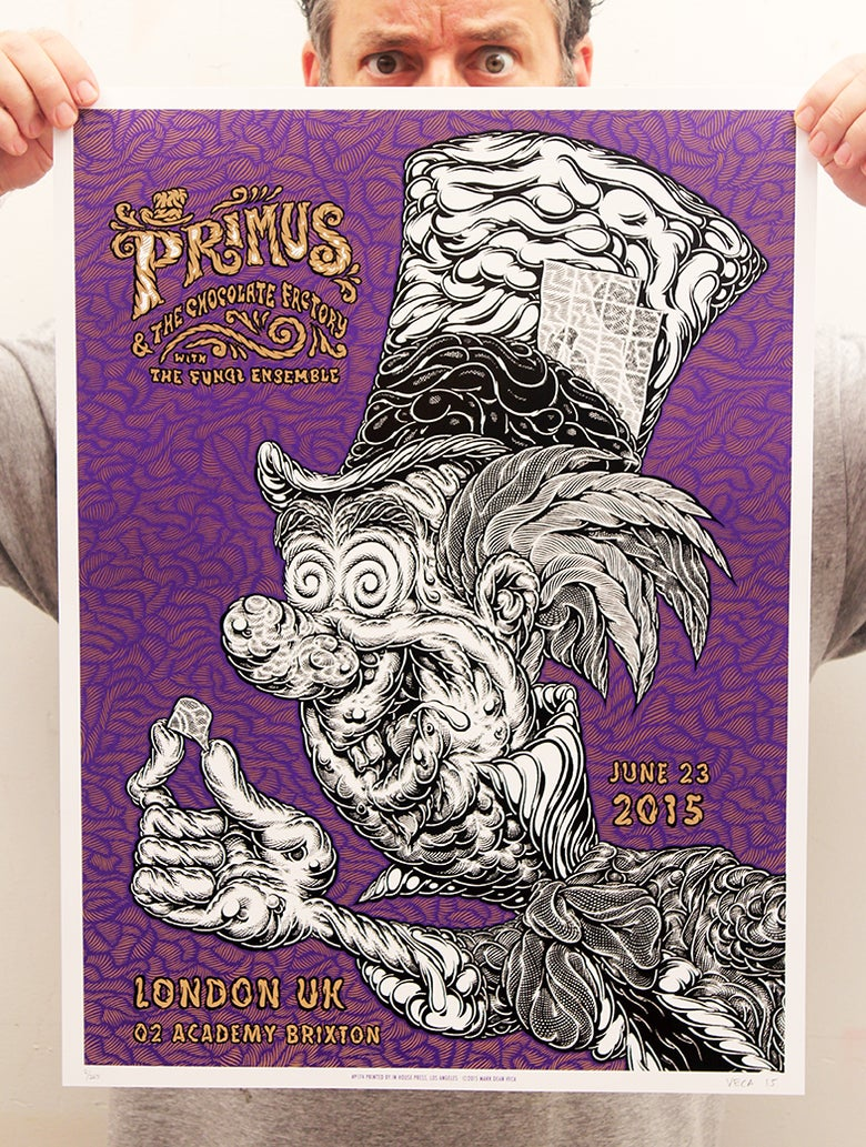 Image of Primus Tour Poster: Hatter (Artist's Proof)