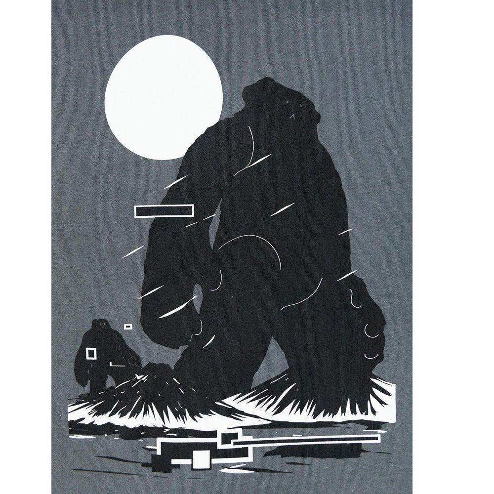Image of 'Yeti Over Mount Fuji Hong Kong Charcoal Grey' Tee
