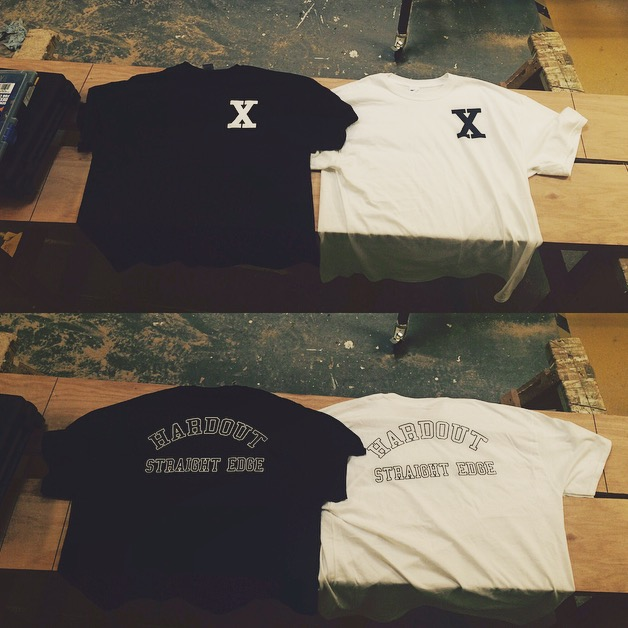 Image of HARDOUT STRAIGHT EDGE 'BASIC' T-SHIRT
