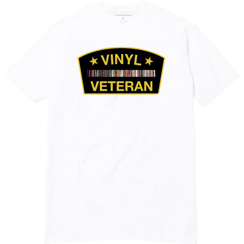 Image of Vinyl Veteran T-Shirt (White)