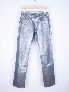 Image of Dior Homme - FW06 Radioactive Silver Wax 21cm Jeans