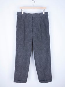 Image of Comme des Garcons Homme Plus - FW98 Marble Dyed Pinstripe Pants