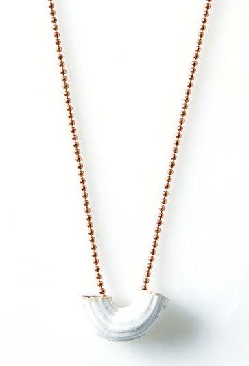 Image of Ceramic Macaroni Necklace