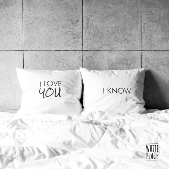 Image of poszewki na poduszki / i love you / i know
