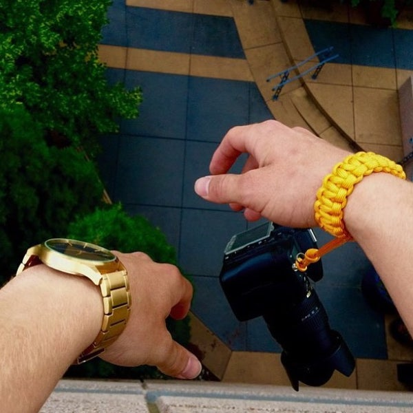 Image of Gold camera wrist strap