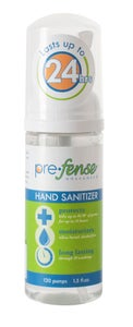 Image of Prefense Alcohol Free, Long Lasting Foam Hand Sanitizer, Un-scented (1.5oz) Bottle