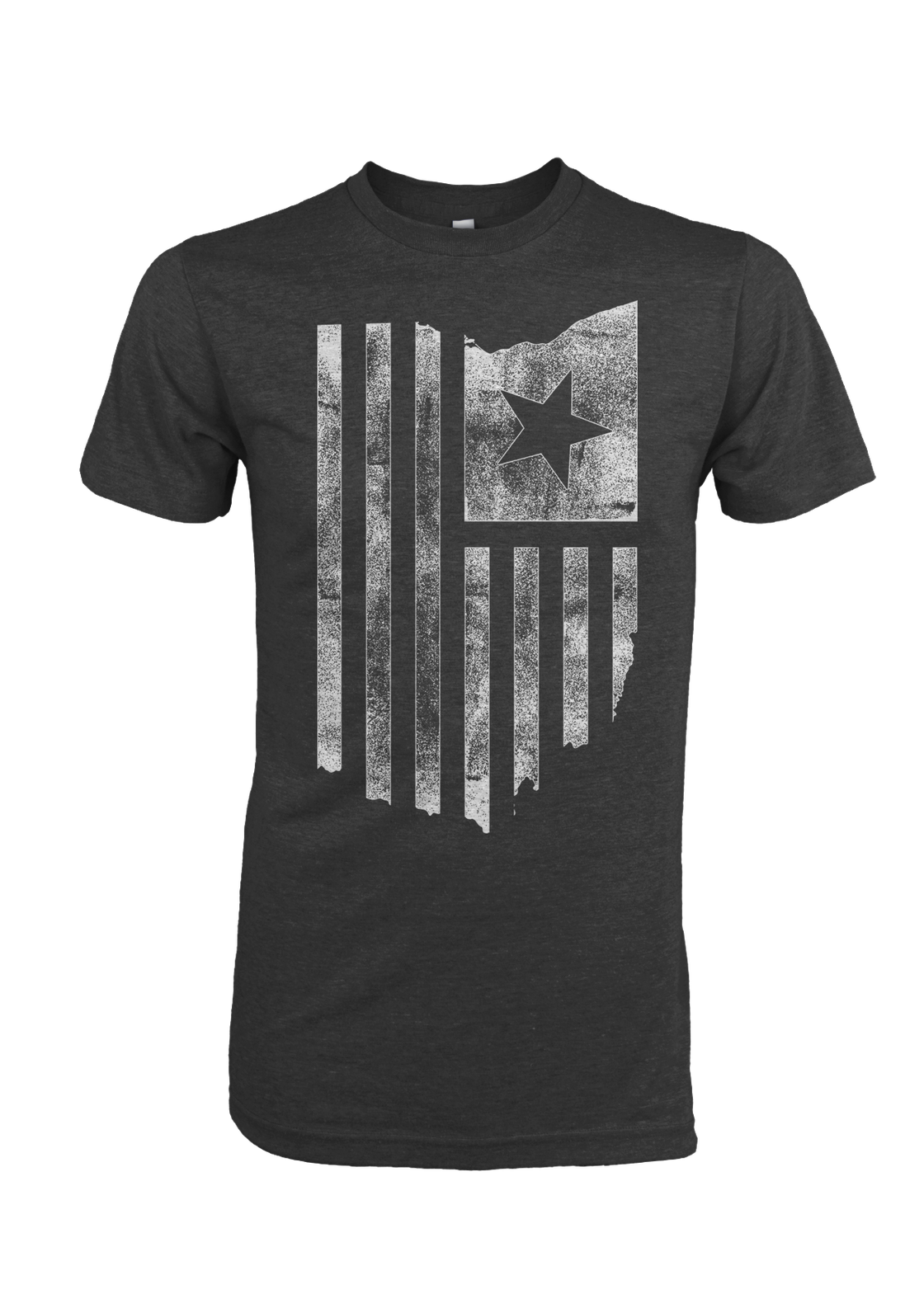 Image of Ohio American Flag Black