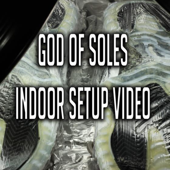 Image of God of Soles INDOOR SETUP