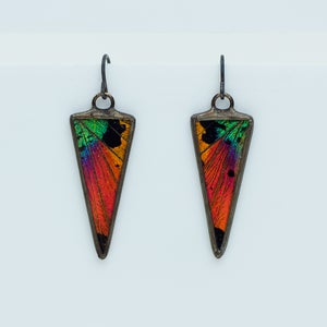 Image of Hart-Variations Isosceles Sunset Moth Earrings