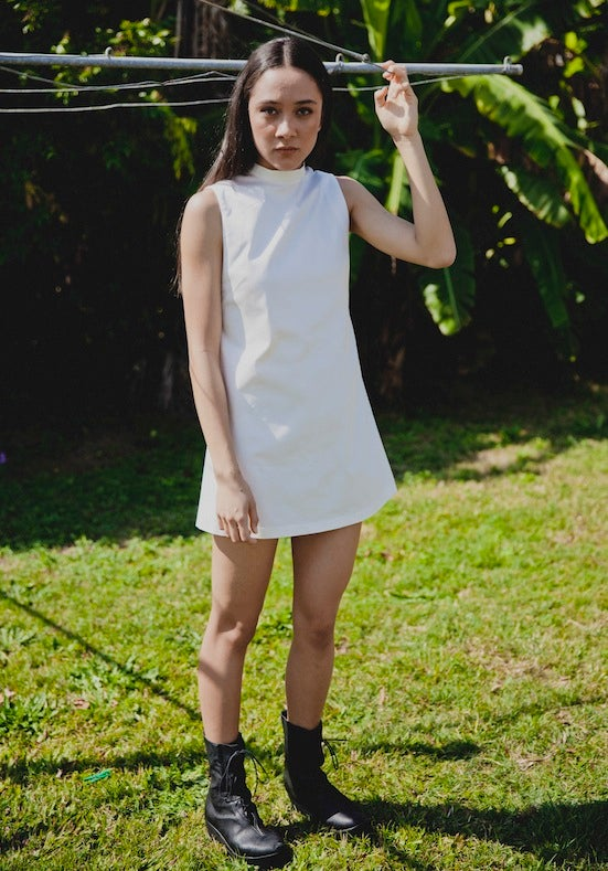 Image of Santa Fe Disco Dress - White