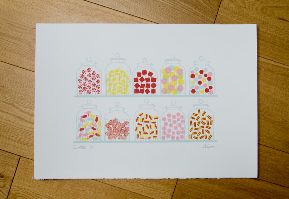 Image of Sweeties Screenprint