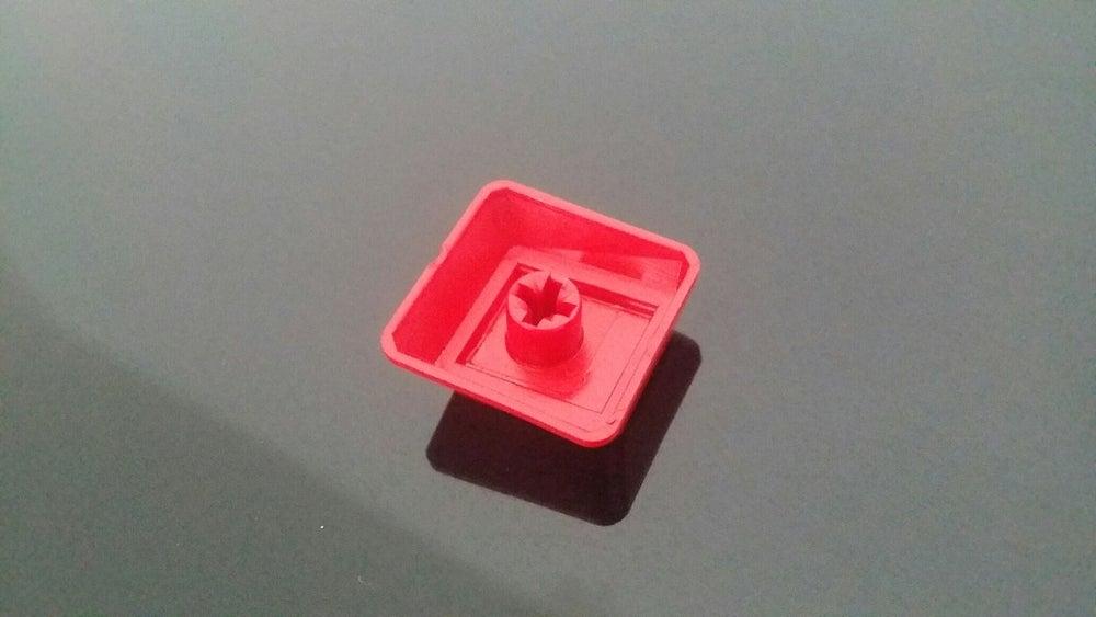 Image of Red Blank WASD Keycap Set