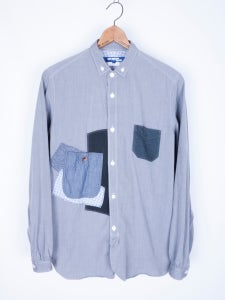 Image of Junya Watanabe MAN - FW13 Micro Check Patchwork Button Down Shirt