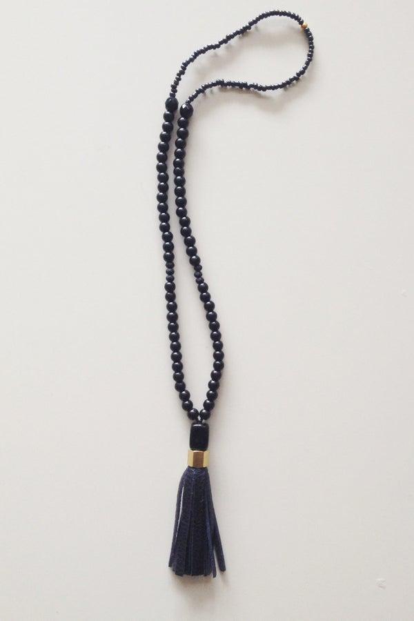 Image of Black Tassel Necklace