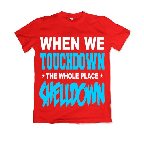 """Image of Men & Women """"When We Touchdown"""" T-Shirt - Various Colors"""