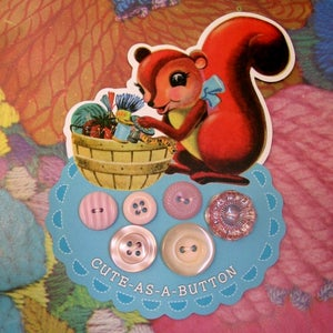 Image of Crafty Squirrel Vintage Buttons