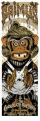 Image of PRIMUS OOMPA MONKEY gigposter - 'Golden Ticket Chocolate variant'