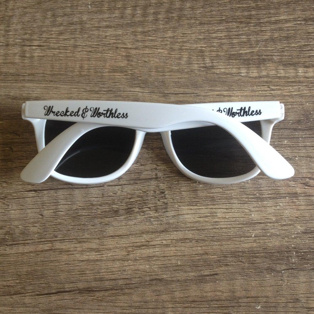 Image of White Wayfarer Sunglasses