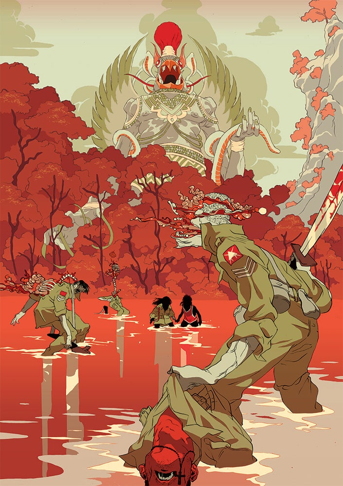 Image of Tomer Hanuka's 'Havoc' (Orange Version)