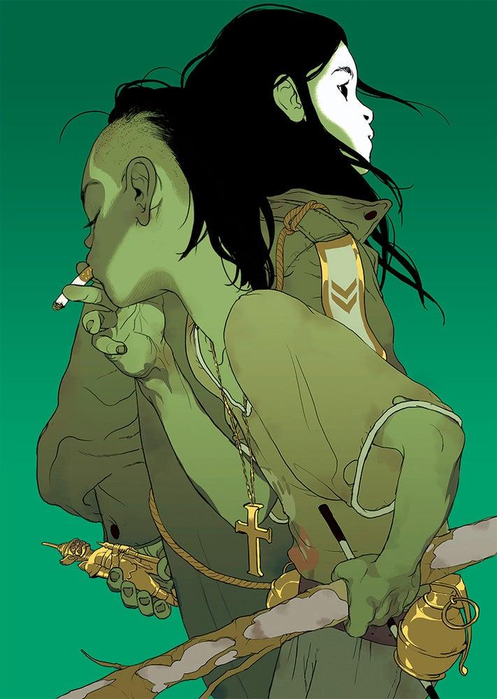 Image of Tomer Hanuka's 'The Divine' (Green Version)