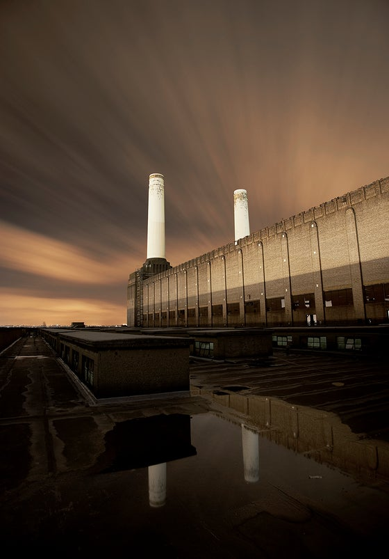 Image of Battersea at night