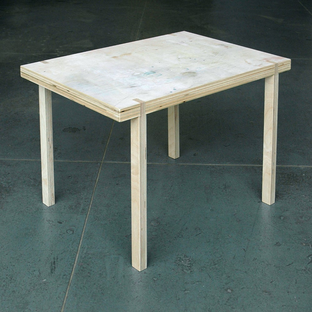 Image of rectangular side table #0016