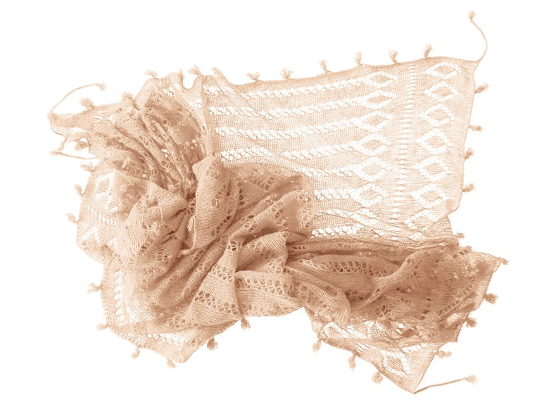 Image of FEATHER WEIGHT CASHMERE SCARF PEACH ROSE