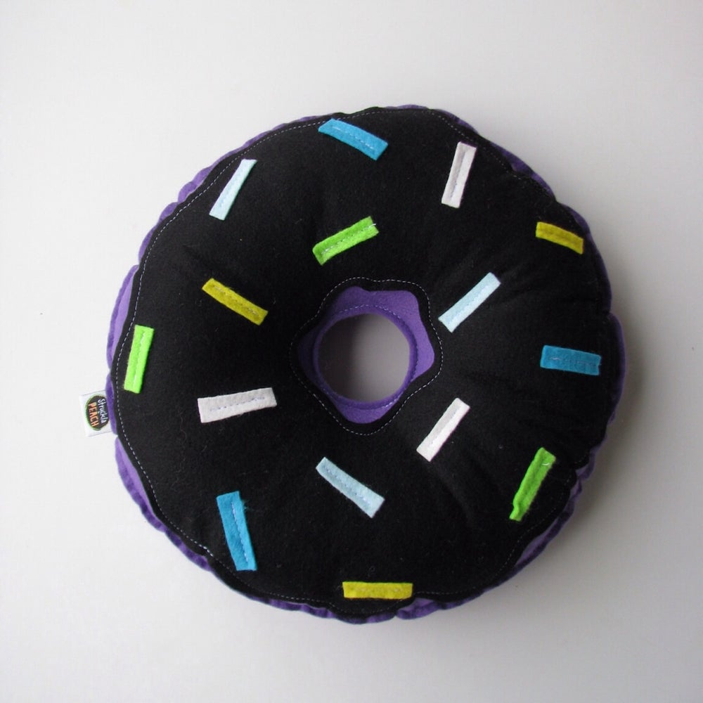 Image of COLOUR DONUTS - PURPLE WITH BLACK FROSTING