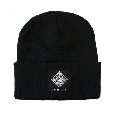 Image of Mandala Beanie | Black / Grey / Burgundy