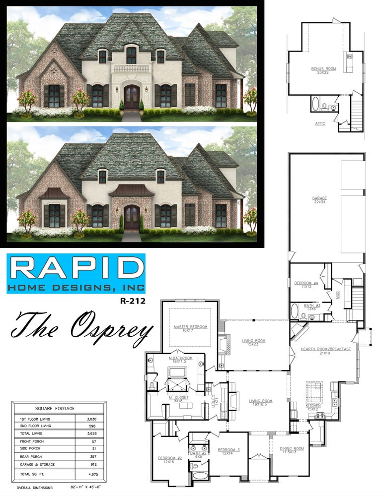 The osprey 3628sf rapid home designs for Rapid home designs