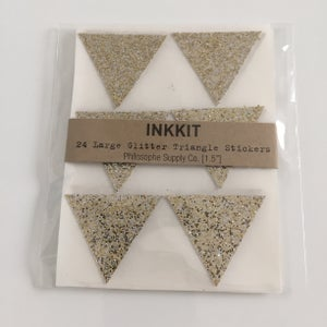 Image of Triangle Glitter Stickers   Champagne