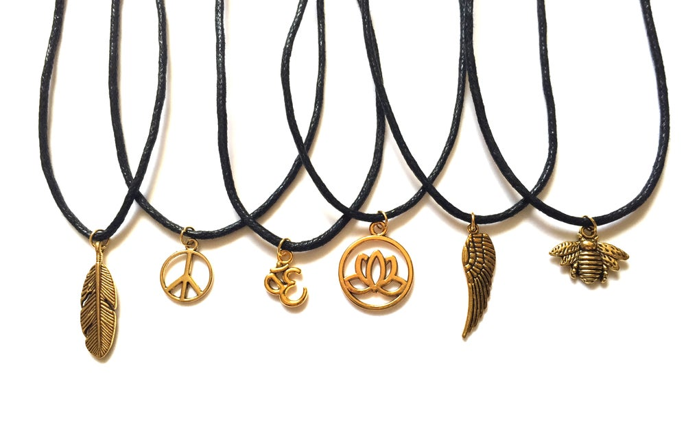 Image of Gold Charm Chokers