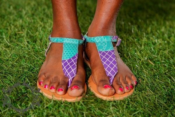 Image of MORENIKE AFRICAN PRINT SANDALS