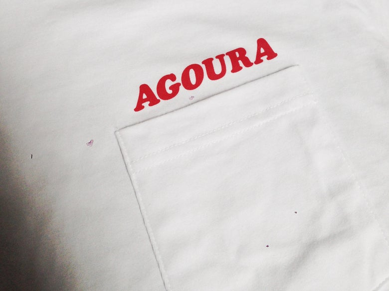 Image of Agoura Lover - Pocket Tee White/Red