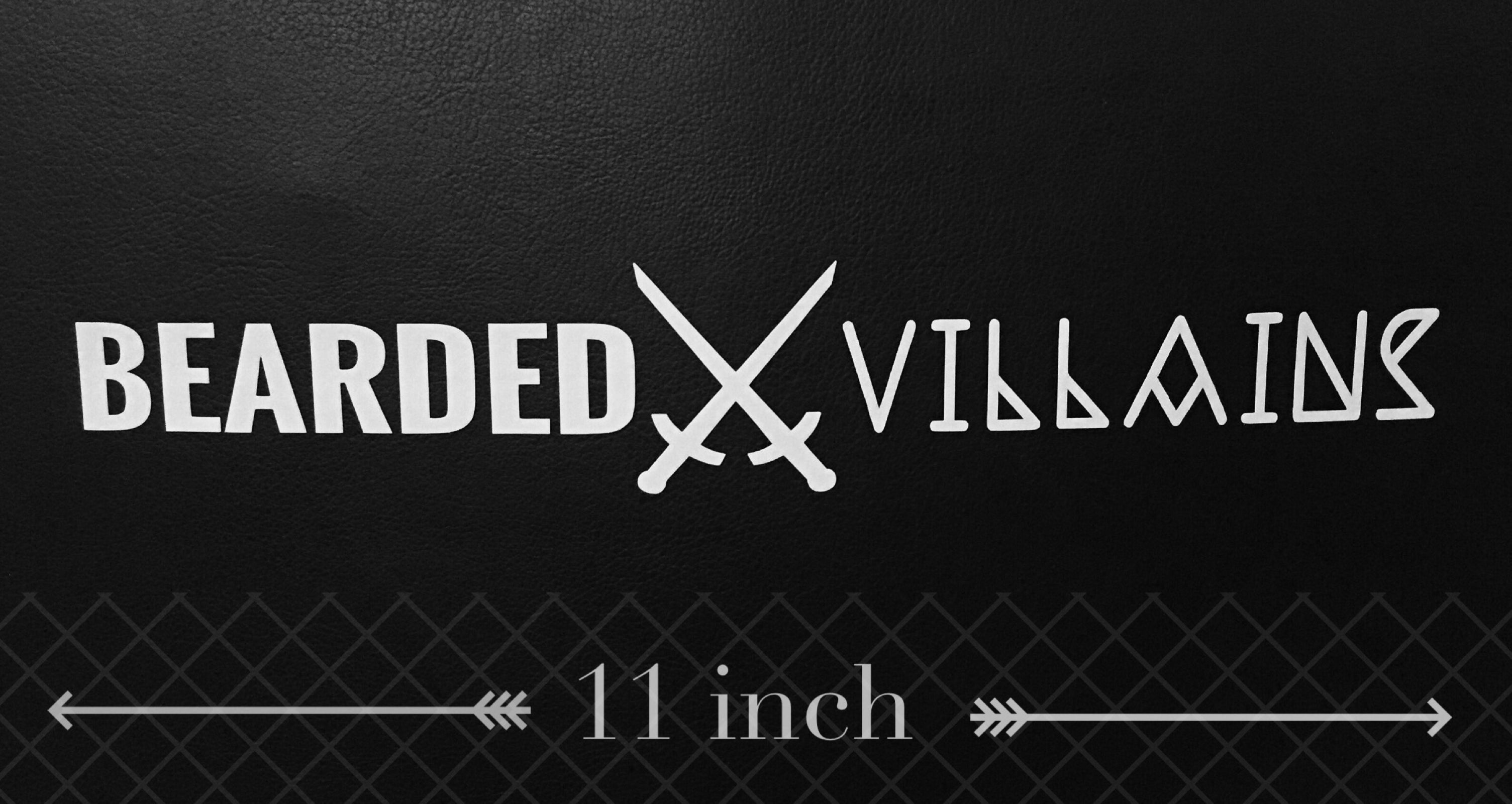BEARDED⚔VILLAINS Logo Sticker / BEARDED VILLAINS