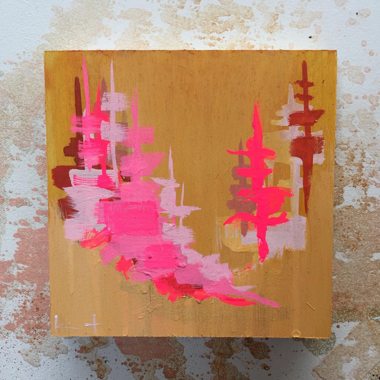 Image of Tiny Painting No. 22 (mustard, opera, rust)