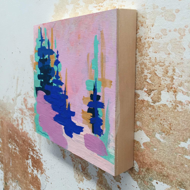 Image of Tiny Painting No. 24 (ultramarine, lavendar)