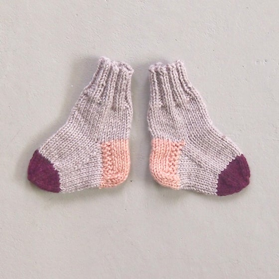Image of SOCKS - Natural / Plum / Coral